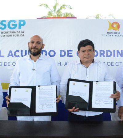 Firma Luis Torres convenio para obtener herramientas para transparentar gobierno de OPB