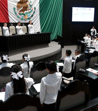 LOS NIÑOS TOMAN LA TRIBUNA: Sesiona el Parlamento Infantil y expone su visión sobre los problemas de Quintana Roo