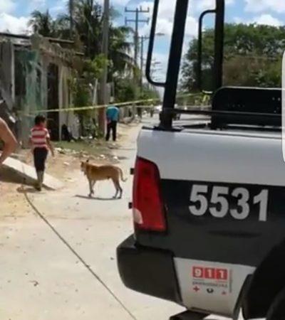 Persigue la policía en Cancún a hombres en moto y dejan abandonada una mochila con un arma en la Región 227