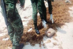Recalan 4 kilos de marihuana en una playa de Cozumel