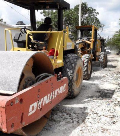 Rehabilitan vialidades en 35 colonias irregulares de Cancún