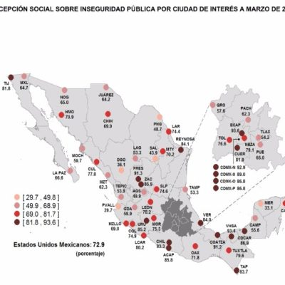 AUMENTA PERCEPCIÓN DE INSEGURIDAD EN CANCÚN: El 76.5% de la población cree que la ciudad es cada vez más insegura, según encuesta del INEGI