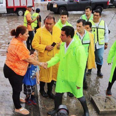 Supervisa Alcalde acciones preventivas por intentas lluvias en Cancún