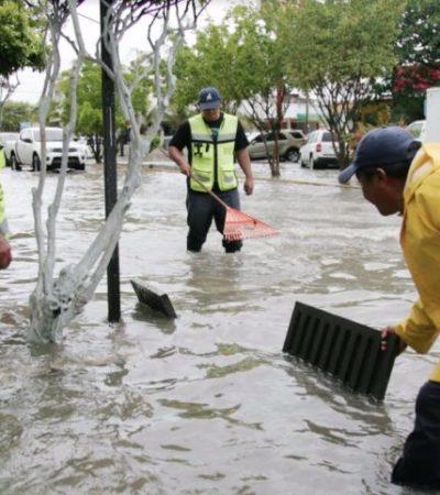 Para evitar inundaciones, construirán en Cancún 180 pozos de absorción, anuncia Remberto Estrada