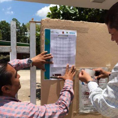 Colocan listas preliminares de posibles beneficiarios del Programa de Vivienda Rural e Indígena