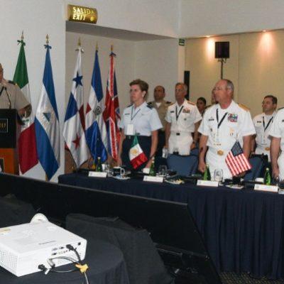 Con la participación de mandos militares de EU, inicia en Cozumel Conferencia de Seguridad de Centroamérica