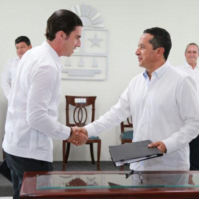 Ofrece Remberto 'colaboración total' con Carlos Joaquín para combatir delincuencia en Cancún