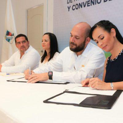 Firma Alcaldesa acuerdo con el Gobierno de QR para transparentar acciones e impedir corrupción en Puerto Morelos