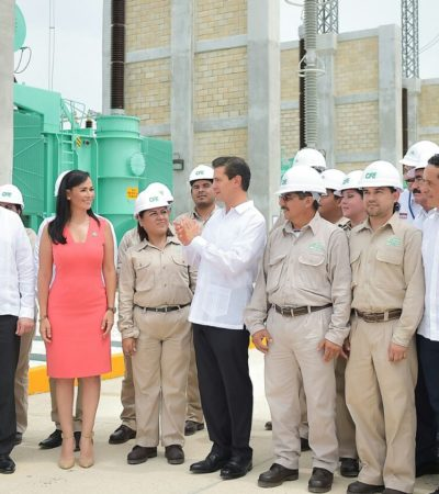 Entregan subestación eléctrica para atender demanda en Puerto Morelos