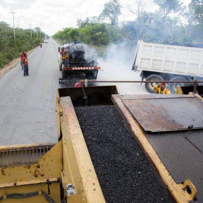 Rehabilitan carretera Central Vallarta-Leona Vicario