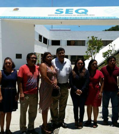 Dejan 'plantados' en Chetumal a maestros que desde el año pasado demandan su reinstalación
