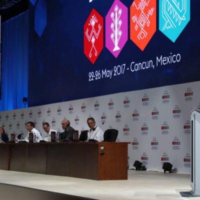 Clausura Gobernador Plataforma Global para Reducción del Riesgos de Desastre 2017 que se realizó en Cancún