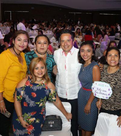 En festejo del Día de las Madres, Gobernador dice que se buscan mejores oportunidades para las mujeres trabajadoras
