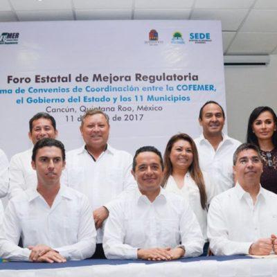 ATERRIZAN MEJORA REGULATORIA: Firman convenio Estado y municipios con Cofemer para simplificar trámites e impulsar el crecimiento económico