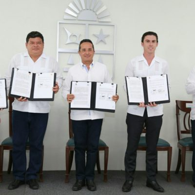 ARTICULAN MANDO ÚNICO: Pactan Gobierno de QR y municipios de BJ, Solidaridad y OPB convenio para enfrentar inseguridad con un solo frente