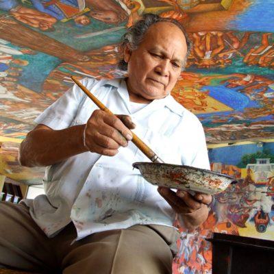 Desaparecen del Salón Cuna del Mestizaje cuadros del pintor chetumaleño Elio Carmichael