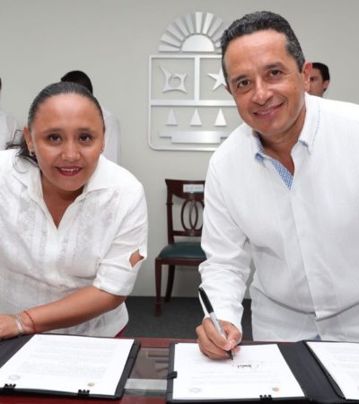 """""""SIN SEGURIDAD NO PODRÍAMOS TENER ESTABILIDAD NI EMPLEOS"""": Destaca Cristina Torres avance en la coordinación de las policías en QR"""