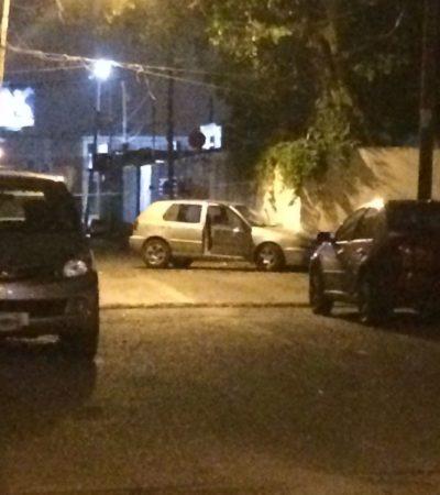 Persiguen y frenan a balazos a conductor ebrio de Cancún