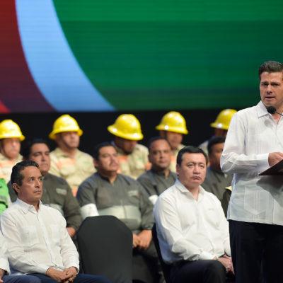 Dice Peña Nieto que México ya está preparado para el inminente inicio de la temporada de huracanes