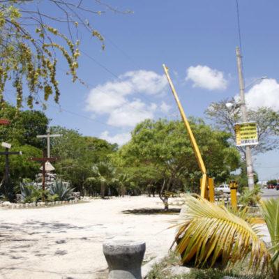INVASIÓN IMPUNE EN AVENIDA LAS TORRES: Particulares y hasta la iglesia ocupan camellón como si fuera propio
