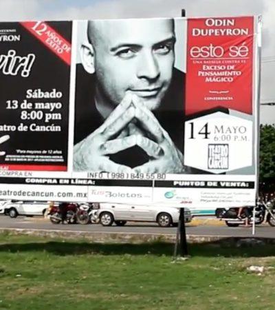 LA INVASIÓN DE LOS CAMELLONES: Proliferan anuncios espectaculares en espacios públicos de Cancún saboteando la imagen del destino