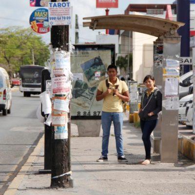 PARADEROS DE CANCÚN, DE PENA AJENA: Pese a concesión otorgada en 2015, lucen abandonados, sucios o rotos