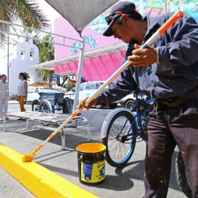 Inicia comuna de Solidaridad programa de recuperación de la imagen urbana de Playa del Carmen
