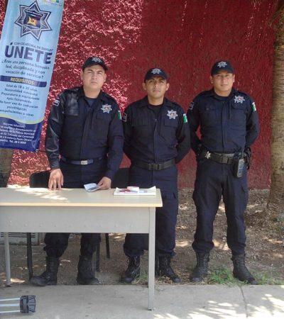SALEN A LA CALLE A RECLUTAR POLICÍAS: Ante la falta de interés ciudadano, ordena Alcalde instalar módulos en la Avenida Héroes para encontrar candidatos