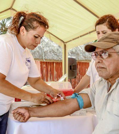 Llevan jornada de salud a la comunidad maya de San Juan
