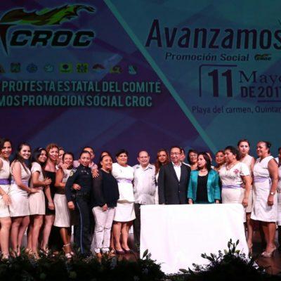 Atestigua Alcaldesa toma de protesta del Comité Estatal y Comités Municipales de la asociación civil croquista 'Avanzamos. Promoción Social'