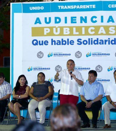 Realiza Cristina Torres audiencia pública en Galaxia I para propiciar un diálogo ciudadano