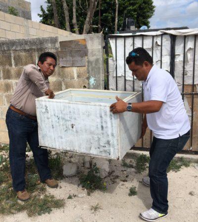 Realizan en Puerto Morelos jornada de limpieza y descacharrización contra mosquitos transmisores de dengue, zika y chikungunya