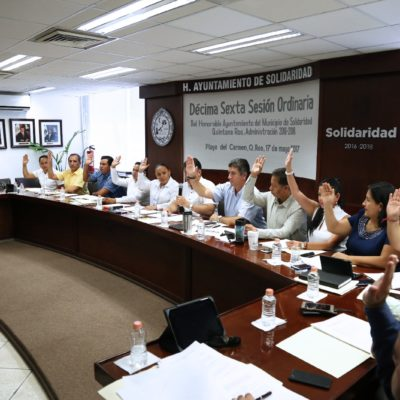 Aprueba Cabildo reglamentos para la transparencia en Solidaridad