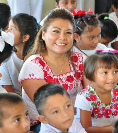Realiza Romi Dzul gira por la comunidad de Punta Allen