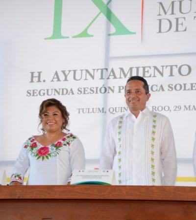 """""""SOMOS HEREDEROS DE UNA TIERRA PRIVILEGIADA"""": Celebran 9 años de la creación del municipio de Tulum"""