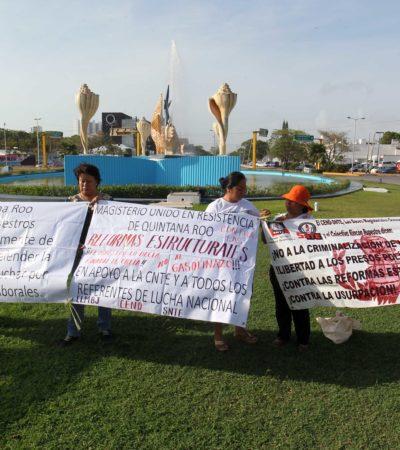 Cancún se queda sin conmemoración del Día del Trabajo, pero no sin las protestas