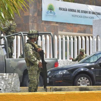 RESGUARDAN MILITARES LA FISCALÍA DE CANCÚN: Soldados y marinos vigilan instalaciones por reunión nacional de fiscales