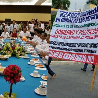 UNOS MARCHAN… OTROS DESAYUNAN: Contrastes en la celebración del Día del Trabajo en Chetumal