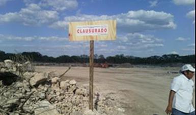Ordena Profepa clausura de banco de material pétreo en Yucatán por ilegal cambio de uso de suelo en terrenos forestales