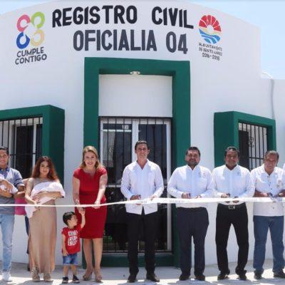 Inauguran oficialía del Registro Civil en la Región 237 de Cancún