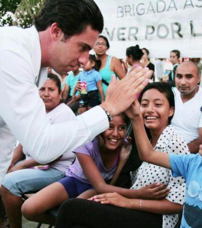 Visita Alcalde la Región 227 y dice que su gobierno garantiza escuchar y atender a los cancunenses