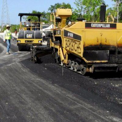 Supervisa Alcalde avance de la pavimentación de la Avenida Huayacán de Cancún
