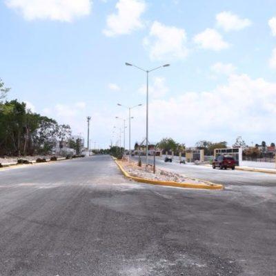 Abre Gobierno de Solidaridad nuevo tramo pavimentado de la Avenida Lilis