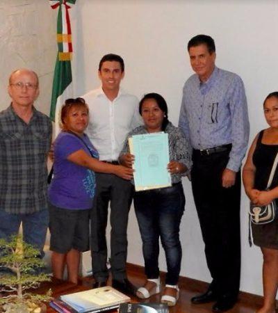 Acuerdan instalación de una Telesecundaria en la colonia México de Cancún