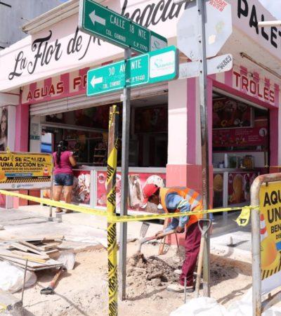 Construyen 35 rampas para discapacitados en el centro de Playa del Carmen