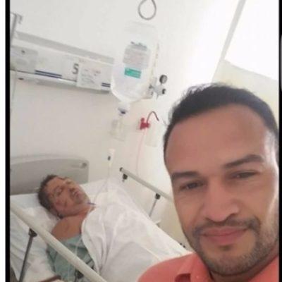 Presunto empleado de la Fiscalía se burla del ruso de Cancún en su lecho de convaleciente en el Hospital General; anuncian investigación