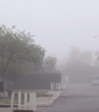 NEBLINA EN CANCÚN: Inusual amanecer aunque prevalecen durante el día temperaturas cálidas con probabilidad de lluvias