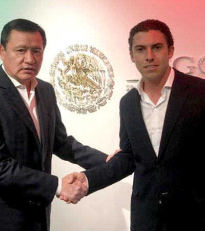 Se reúne Remberto Estrada con Osorio Chong