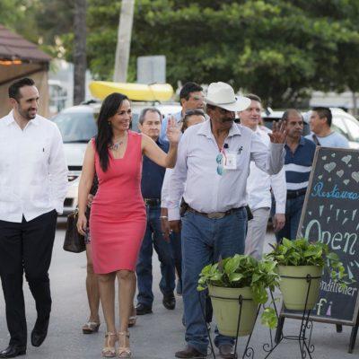 Colaboran empresarios en mantener una buena imagen de Puerto Morelos