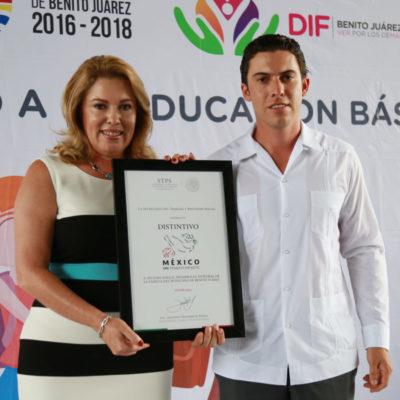 Dan reconocimiento a comuna por impulsar políticas para erradicar el trabajo infantil en Cancún